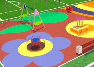 Резиновые покрытия для детских площадок